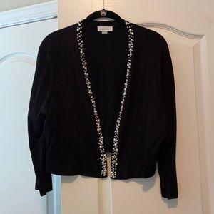Calvin Klein pearl trim sweater